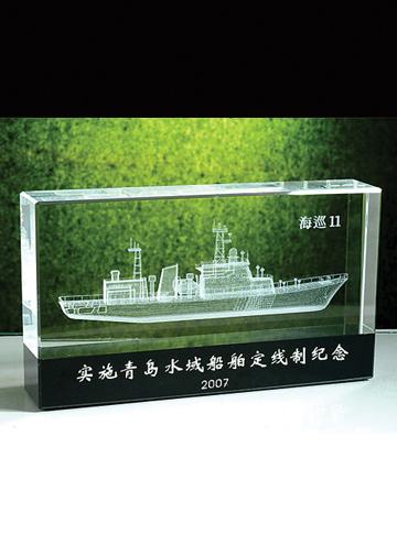 海巡船模内雕